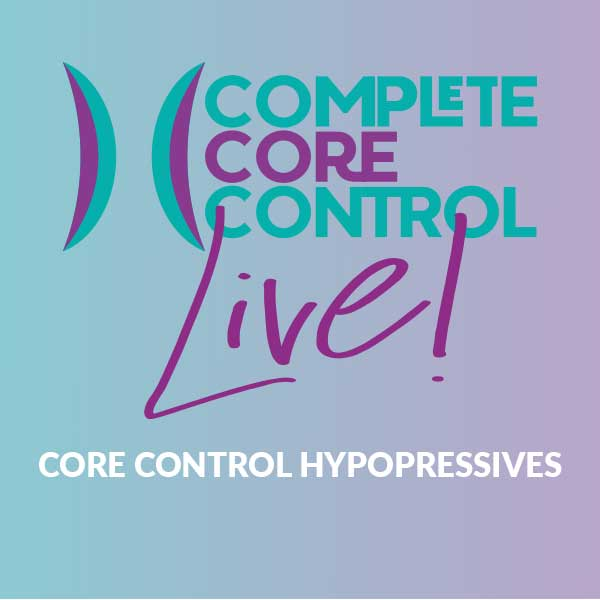 Monday Evening Core Control Hypopressive Class – Monday 30th November 08:00pm